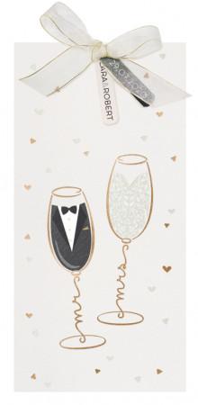 Faire-part coupes de champagne