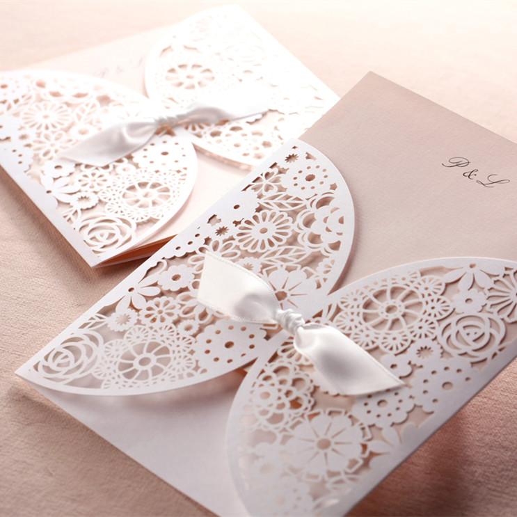 Souvent Faire-part dentelle pochette fleurs - Evi-créations NU43