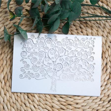 Faire-part dentelle pochette arbre
