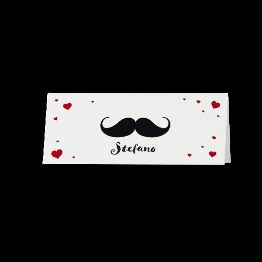 Marque-place moustache ET lèvres