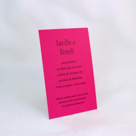 Carte supplémentaire rose