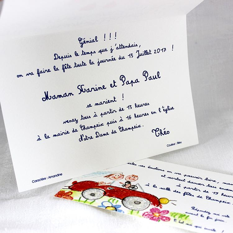 Célèbre Faire-part dessin d'enfant - Evi-créations CQ48