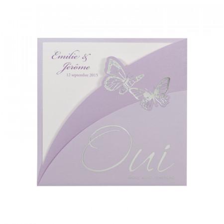 URGENCE Faire-part papillons «oui»
