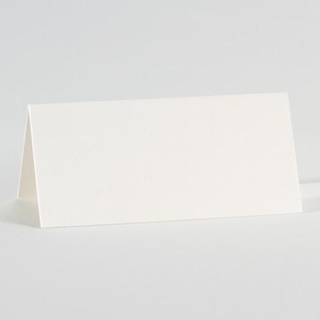 Marque-place blanc irisé neutre