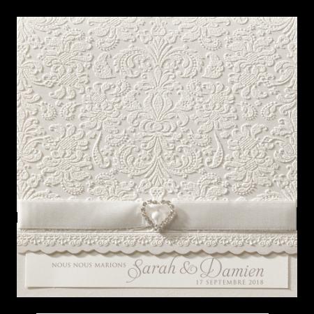 Faire-part baroque-velours relief