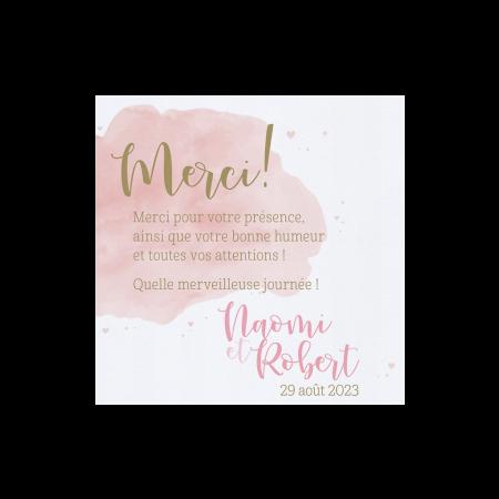 Carte supplémentaire pastel rose