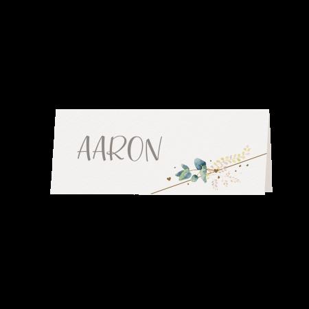 Marque-place floral vert