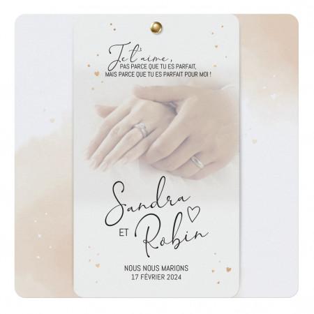 Faire-part mains calque et pastel