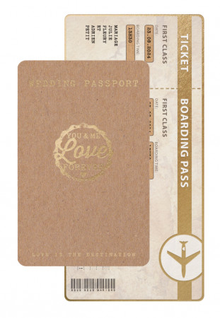 Faire-part passeport kraft