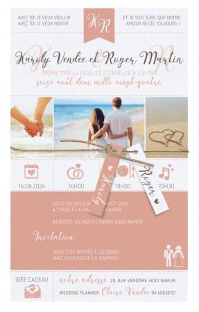Faire-part poster de mariage