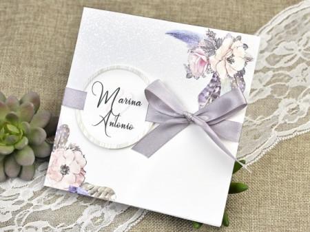 Faire-part fleurs classique
