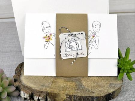 Faire-part dessin des mariés
