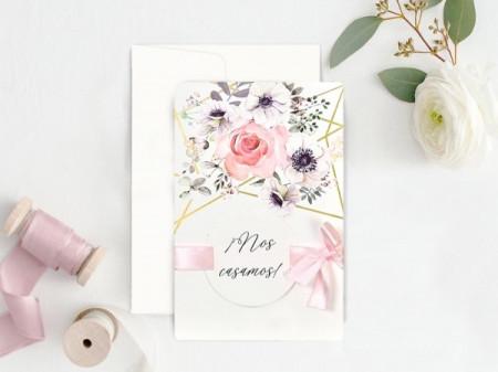 Faire-part graphique fleurs