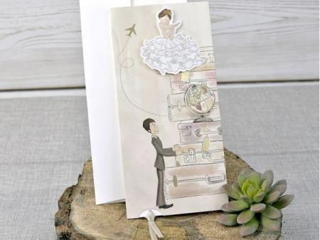 Faire-part mariés en voyage