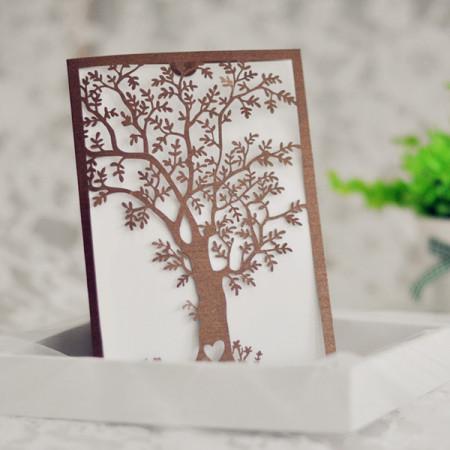 Faire-part de Mariage dentelle livret arbre