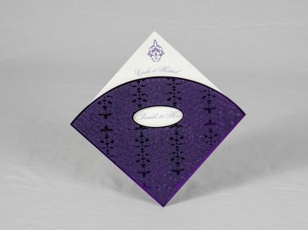 Faire-part oriental violet