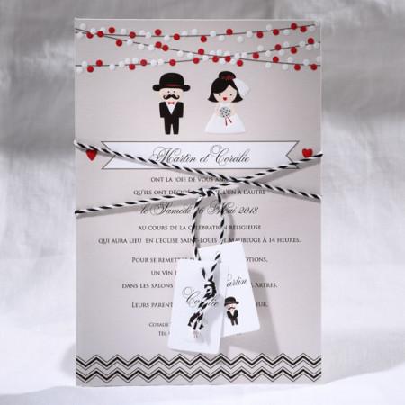 Faire-part poster mariés