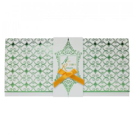 Faire-part bandeau arabesques vert