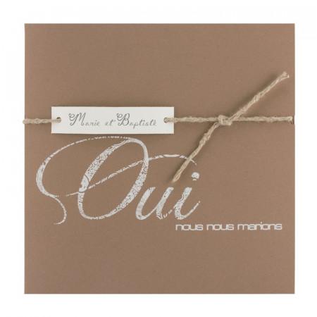 URGENCE Faire-part coupon kraft «oui»