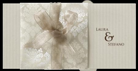 Faire-part calque pochette baroque
