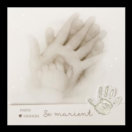 Faire-part calque enfant mains
