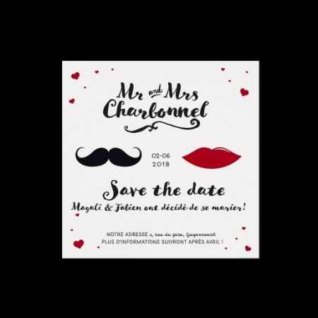 Carte supplémentaire moustache lèvres