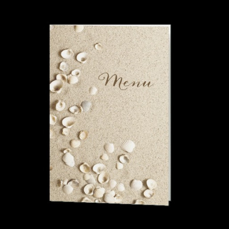 Menu plage coquillages