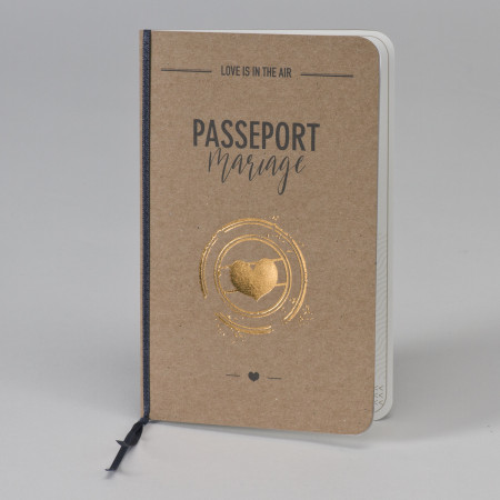 Faire part passeport kraft
