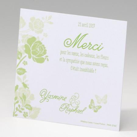 Carte supplémentaire fleurs