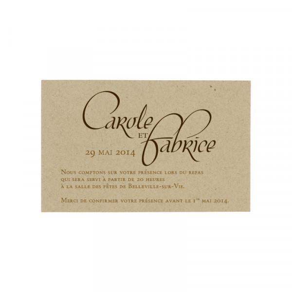 Carte supplémentaire carton
