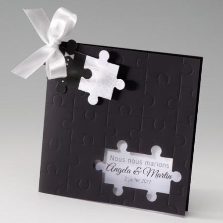 Faire-part puzzle