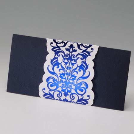 Faire-part oriental pochette bleue