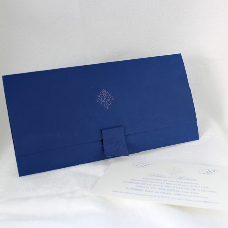 Faire-part pochette marine classique