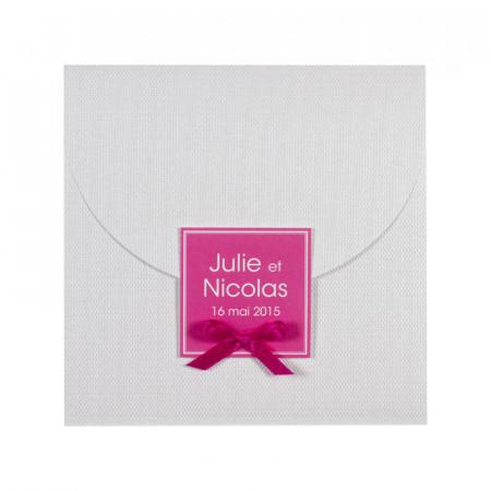 Faire-part pochette papier tissu