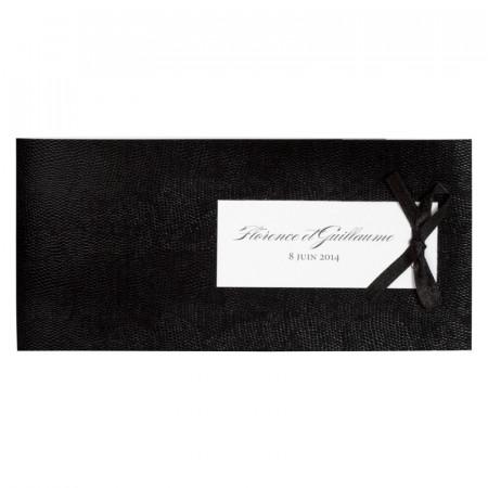 Faire-part bandeau noir